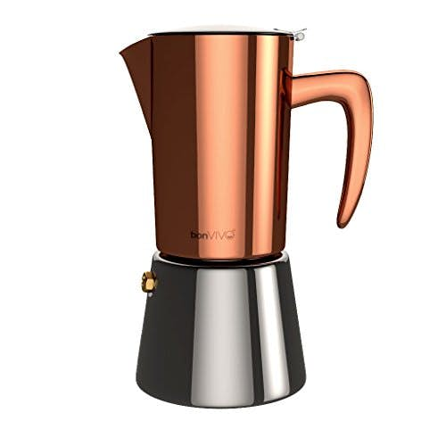 bonVIVO® Intenca, Espressokocher In Kupfer-Chrom-Optik, 6 Tassen