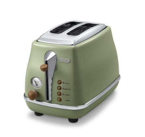 Delonghi CTOV 2103.GR Toaster Icona Vintage, olive, 900W